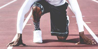 Läufer auf Startposition