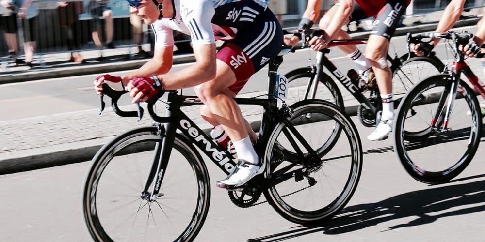 Radfahrer beim Rennfahren