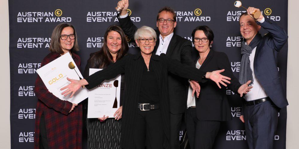 WKS & ÖBSV Team hält Award (Austrian Event Award 2019)