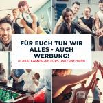 Plakatkampagne für Betriebssport, Motivation zum Sport, Teambilder