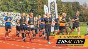 Laufgruppe in der Europäischen Woche des Sports