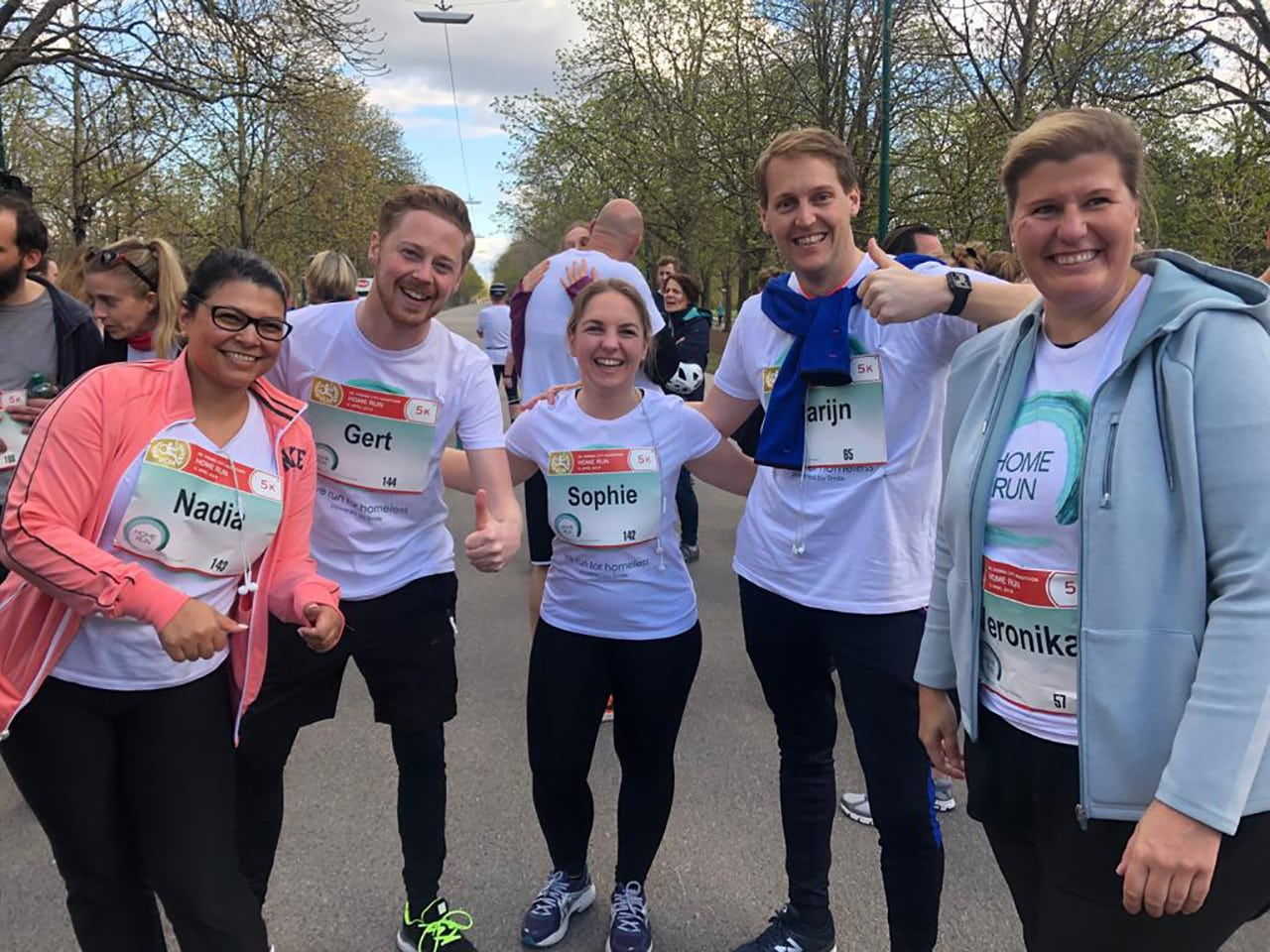 HomeRun Initiative, Spendenlauf, Charity, LäuferInnen als Team